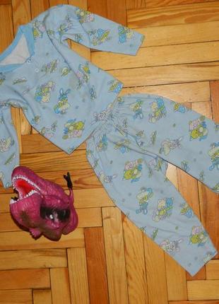 Пижама детская голубая на мальчика 2-3 годика.