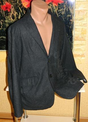 Пиджак мужской стильный тёмно-серый renuar man размер 52-54.