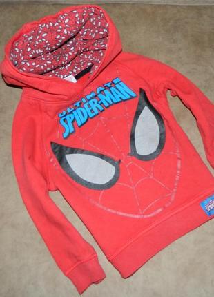 Детская кофта с капюшоном человек-паук spider-man на мальчика ...