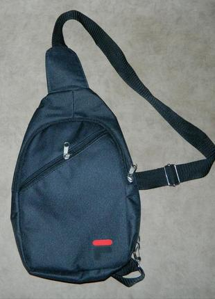 Мужская спортивная тканевая сумка через плечо слинг рюкзак бан...