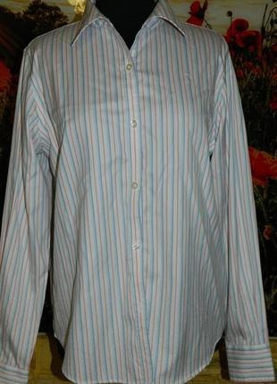 Блуза рубашка женская белая с красной и синей полоской george ...