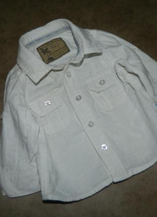 Рубашка белая детская на малыша 3 месяца autoghraph baby.