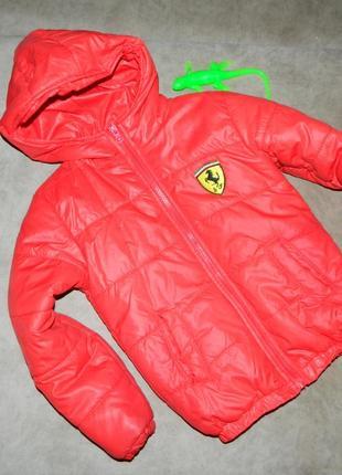 Куртка детская демисезонная красная на мальчика 4-5 лет.