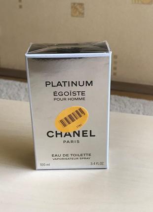 Мужская туалетная вода: Chanel Egoiste Platinum 100ml