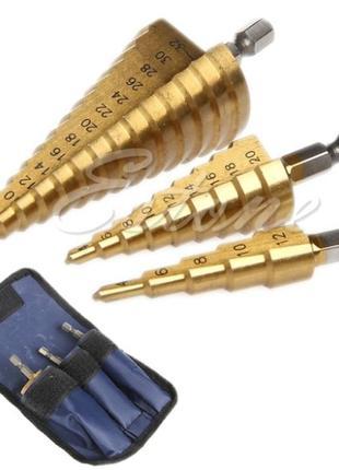 Сверла ступенчатые (по металлу) 4-12,4-20,4-32
