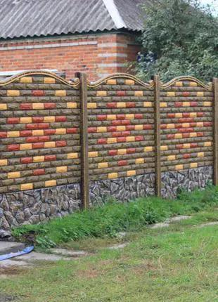 Установка бетонных заборов за день в Запорожье