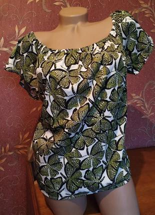 Блуза с открытыми плечами💕