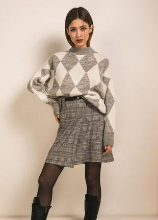 Вязаный свободный свитер оверсайз oversize цвета