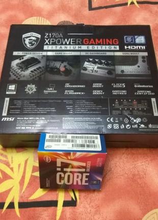 MSI Z170A XPow. Gam. titan. Edit + 7700k+32Gb Продажа или Обмен.