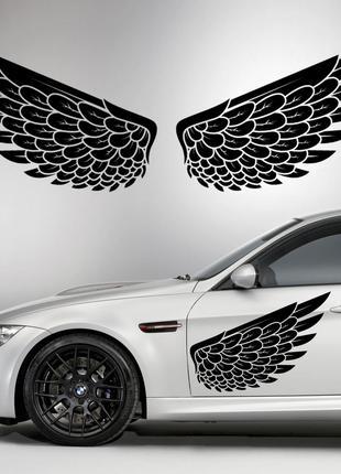Наклейки КРЫЛЬЯ. Наклейка на авто крылья ангела на двери, на к...