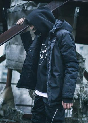 Зимняя мужская куртка Пушка Огонь Frost черная