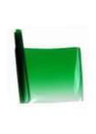 Тонировочная пленка на лобовое стекло с переходом, зеленая 13-76%