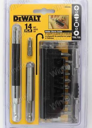 Набор бит с двумя держателями DeWALT DW2099 (14 предметов)