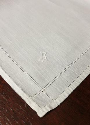 Винтажный французский платок с монограммой