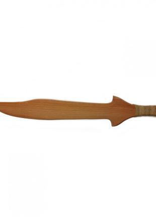 """Игрушечный меч """"Турецкий"""" 171927y деревянный 35см"""