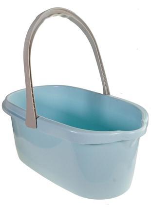 Пластиковое ведро для влажной уборки 15 л под швабру, голубой
