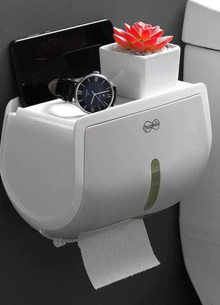 Держатель для туалетной бумаги настенный с полочкой и держател...