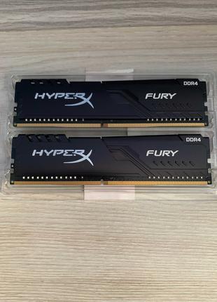DDR4 2666MHz (2x8Gb) Kingston HyperX Fury Black