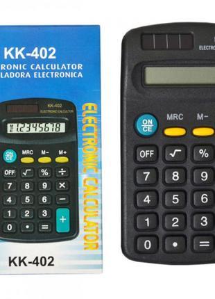 Калькулятор карманный KK402 8 разрядов плоский 11,5х6,5х2 черн...