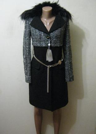 Итальянское пальто с воротом из натурального меха + 1500 позиц...