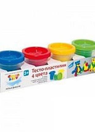 Набор для детского творчества «Тесто-пластилин 4 цвета» GENIO ...