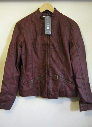 Куртка бордовая cache cache искусственная кожа арт.580 + 1500 ...