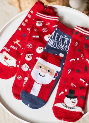 Подарочный набор женские носки с красивым новогодним рисунком,...