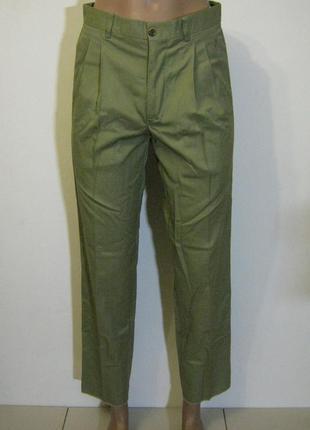 Оливковые летние зауженные брюки claw`s новые арт.115 + 1800 п...