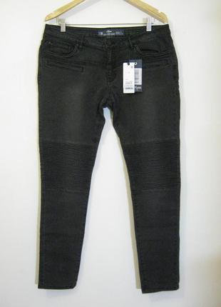 Темно-серые демисезонные зауженные джинсы s.oliver новые арт.1...