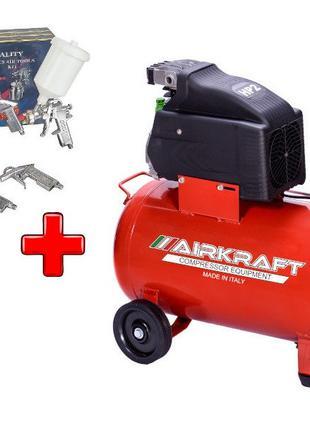 Компрессор воздушный 50л, 170л/мин, Airkraft AK50-170-ITALY и ...