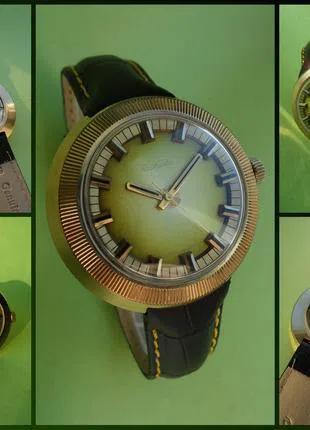 РАКЕТА-СТАДИОН-80-х. часы ПОЗОЛОЧЕННЫЕ, сделано в СССР механика