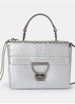 Новая сумка coccinelle кожа/питон эксклюзив кроссбоди серебро ...