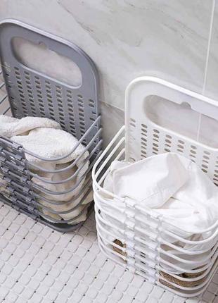 Складная корзина для хранения белья органайзер из пластика в д...
