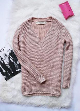Шикарная кофта, нюдовый свитер, цвет пудра