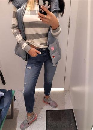 Джинсы скини, skinny jeans denim💖cropp town💖 s-ка