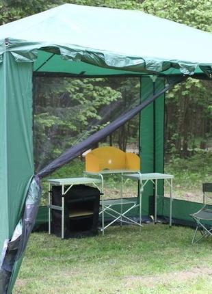 Павильон садовый с москитной сеткой, шатер навес беседка