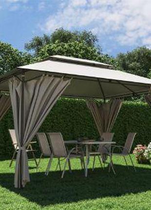 Садовый павильон 3м х 3м ткань полиэстер, шатер беседка альтан...