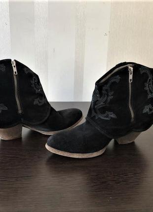💣ковбойки liebeskind  ботинки, казаки, натуральная замша, выши...