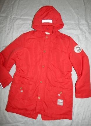Куртка на мальчика модная теплая демисезон на 11-12 лет 150см