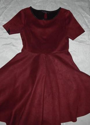 Платье модное школьное на девочку 10 лет