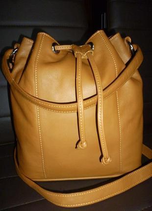 Стильная сумка натуральная кожа kensington лондон