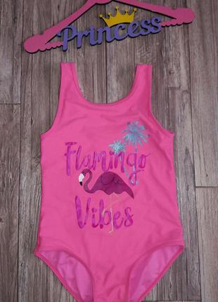 Яркий купальник с фламинго