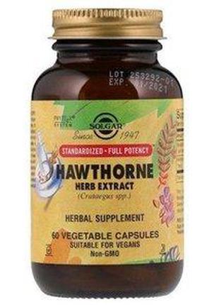 Экстракт травы боярышника Solgar Hawthorn Herb Extract (60 veg...