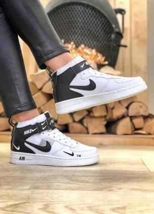 Nike air force зимние женские ботинки с теплым мехом /осень/зи...