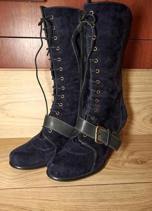Брендові жіночі  демісезонні шкіряні чоботи від  everybody by ...