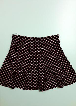 Фирменная теплая вязаная юбка