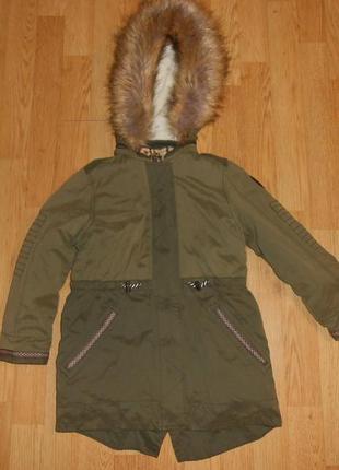 Куртка-парка на девочку 7 лет
