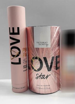 Набор парфюмированная вода love star от victoria's secret мист