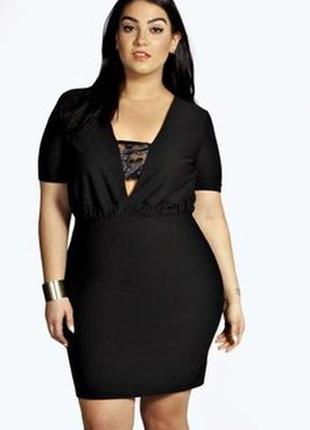 Новое с биркой короткое черное платье\туника boohoo (к071)