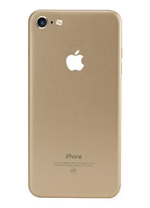 Защитная пленка на заднюю панель для iPhone 7/8 золотая
